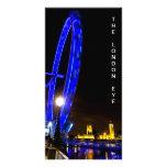 London Eye night view Custom Photo Card