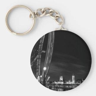 London Eye night view Key Chain