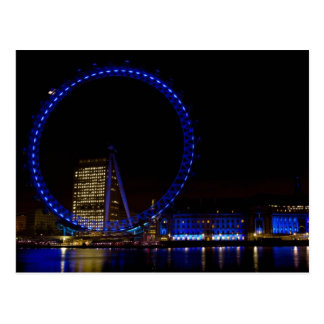 London Eye Night view Postcard