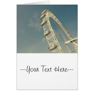 London Eye On A Blue Sky, United Kingdom Greeting Card
