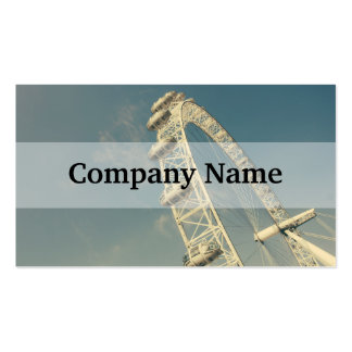 London Eye On A Blue Sky, United Kingdom Double-Sided Standard Business Cards (Pack Of 100)