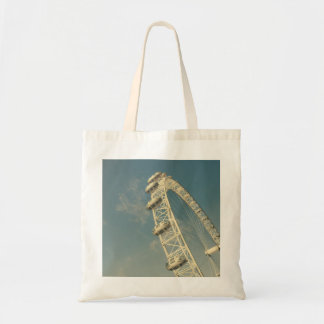 London Eye On A Blue Sky, United Kingdom Tote Bag
