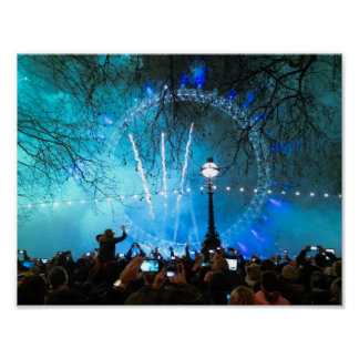 London Eye On New Year's Eve Poster