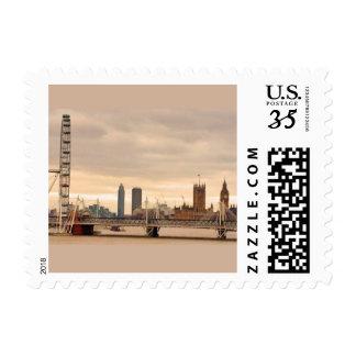London Eye Parliament Big Ben Postage Stamp