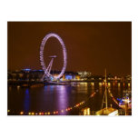 London Eye, River Thames and lights from Postcard