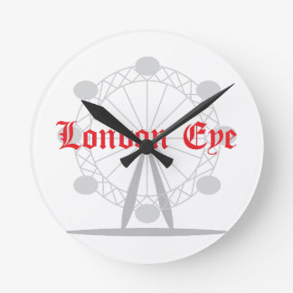 London Eye Round Clock