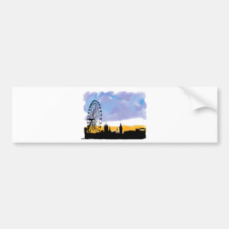 London Eye Skyline Art, Gifts you can customizees Car Bumper Sticker
