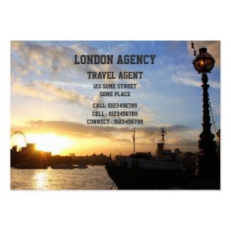 London Eye sunset Business Card Templates