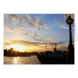 London Eye sunset Card