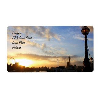 London Eye sunset Label
