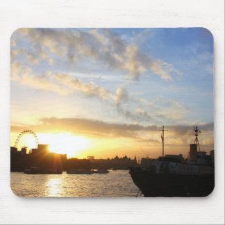 London Eye sunset Mouse Pad