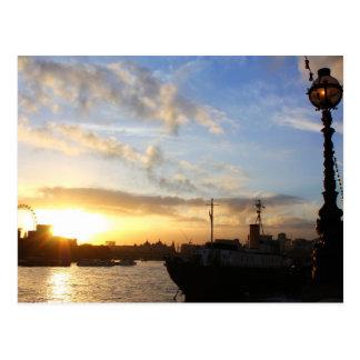 London Eye sunset Postcard