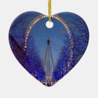 London Eye Twilight Ceramic Ornament