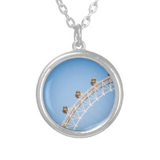 London Eye vertical Round Pendant Necklace