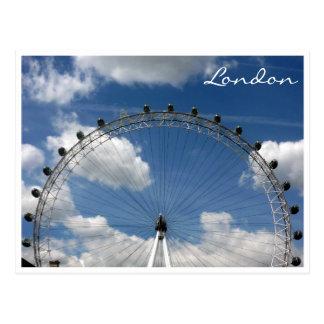 london eye wheel postcard