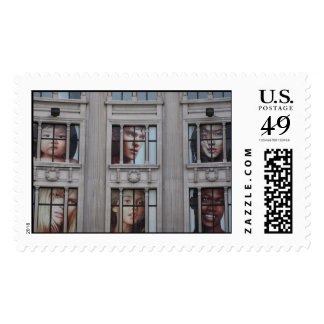 London Faces Postage Stamp