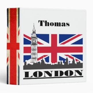 London Flag and Skyline 3 Ring Binder