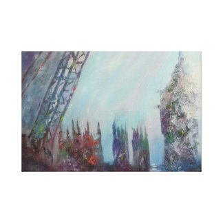 London Fog Gallery Wrapped Canvas