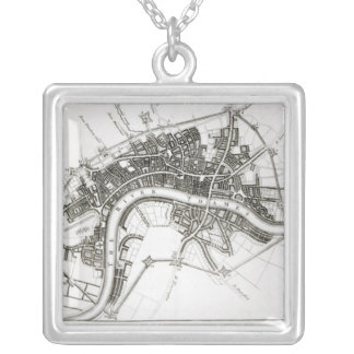 London Fortifications in 1642 and 1643, 1738 Silver Plated Necklace