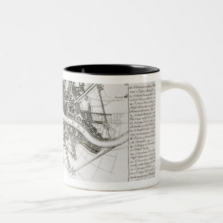 London Fortifications in 1642 and 1643, 1738 Two-Tone Coffee Mug