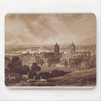 London from Greenwich, engraved by Charles Turner Mouse Pad