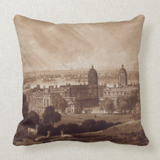 London from Greenwich, engraved by Charles Turner Throw Pillow