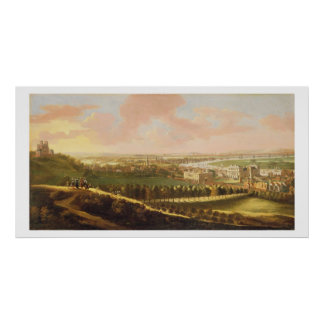 London from Greenwich Hill, c.1680 (oil on canvas) Poster