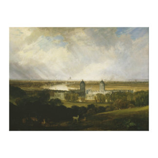 London from Greenwich Park by J M W Turner 1809 Canvas Print
