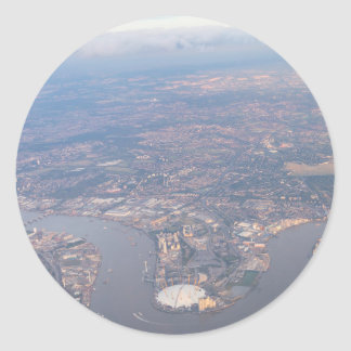 London From The Air Classic Round Sticker