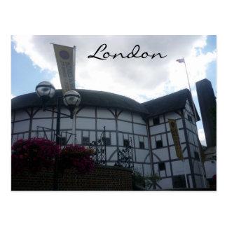 london globe postcard