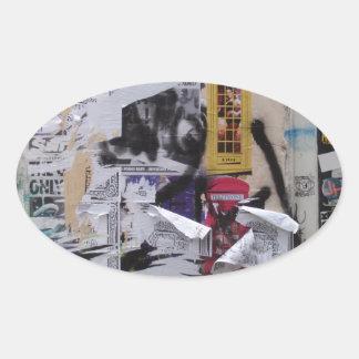 London Graffiti Oval Sticker