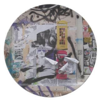 London Graffiti Plate