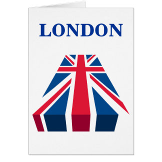 London, Great Britain - Union Jack in 3D Card