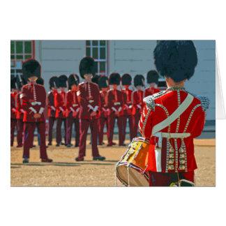 London guardsmen retro poster-style card