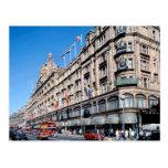 London, Harrods in Knightsbridge Postcard