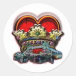 London Heart Crown Group Print Sticker