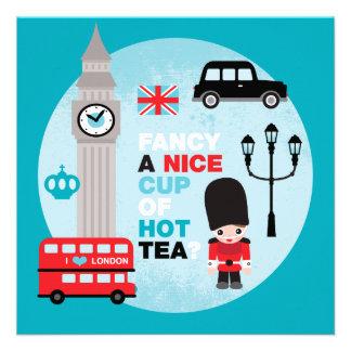 London high tea lunch invite