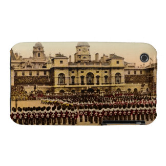London Horse Guard Retro Postcard iPhone 3 Case-Mate Case