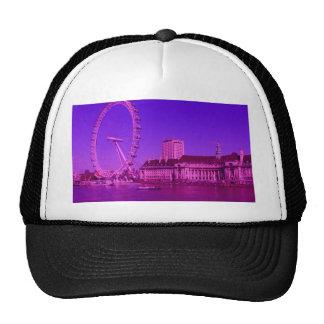 london hot pink trucker hat