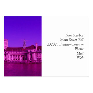 london hot pink large business cards (Pack of 100)