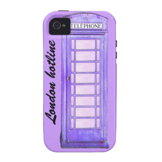 London hotline purple British phone booth Case For The iPhone 4