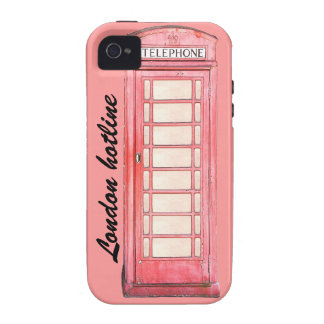London hotline - Red British phone booth iPhone 4/4S Cover