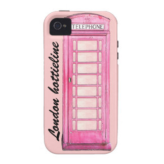 London hottieline - Pink British phone booth phone iPhone 4/4S Cover