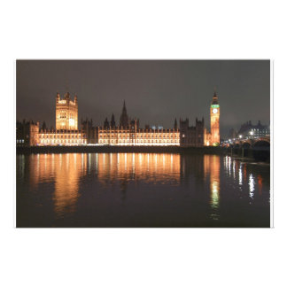 London Houses of Parliament and Big Ben Personalized Stationery