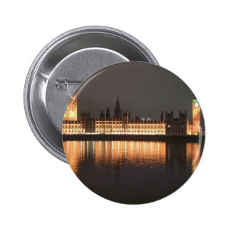 London Houses of Parliament Button