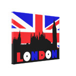 London Houses of Parliament Stretched Canvas Print