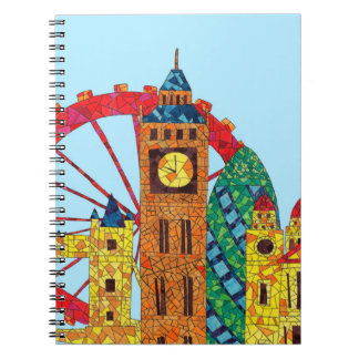 London Icon Building Mozaic Notebook