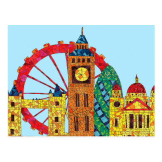 London Icon Building Mozaic Postcard