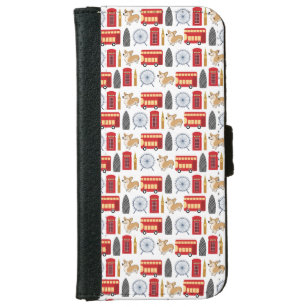 London Icon Collage iPhone 6/6s Wallet Case