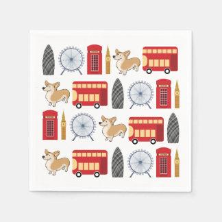 London Icon Collage Napkin
